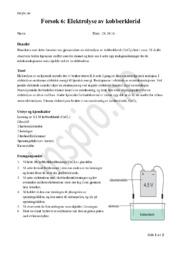 Elektrolyse av kobberklorid | Rapport
