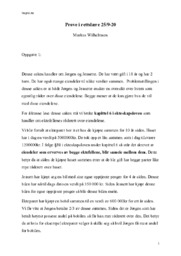 Markus Wilhelmsen Oppgave 1 & 2