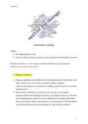 Bruksområder i psykologi | Oppgave