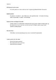 Definisjon på sosialt system | Noter | Sosiologi og sosialantropologi