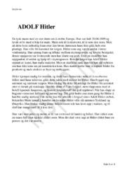 Adolf Hitler | Oppgave | Kortsvar Historie
