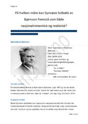Synnøve Solbakk | Analyse | Bjørnstjerne Bjørnson
