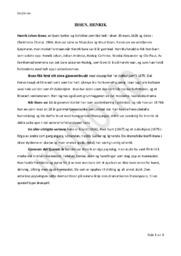 Henrik Ibsen | Introduksjon
