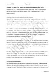 Freud & Erikson   Innlevering   Psykologi