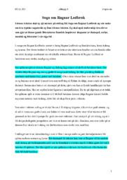 Ragnar Lodbrok | Soga | Oppgave