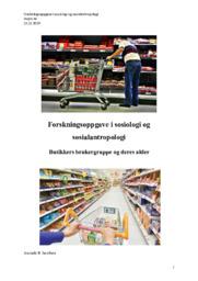 Butikkers brukergruppe og deres alder | Oppgave