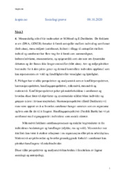 Sosiologi Prøve VG2