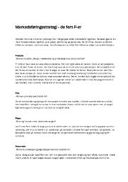 Markedsføringsstrategi – de fem P-er