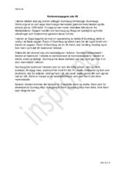 Gunnlaug Ormstunge | Kortsvarsoppgave