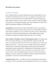Den dansk-norske unionen | Drøfteoppgave