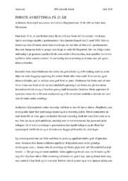 Første Avrettinga På 25 År | Analyse | John Arne Markussen