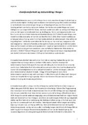 «Samfunnsforhold og Statsutvikling i Norge» | Historie Oppgave