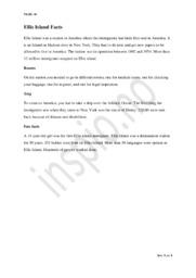 Ellis Island Facts | Engelsk oppgave