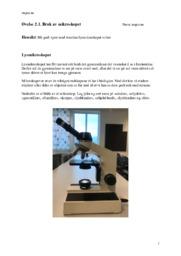 Bruk av mikroskopet | Naturfag