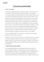Terrorisme og Kriminalitet | Samfunnsfag