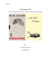 Hvordan blir psykisk lidelse skildret i romanene Vingebelastning & Evig Søndag