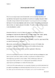 Internasjonale forhold – FN | Samfunndsfag aflevering