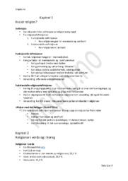 Religion Prøve | Kapittel 1-5