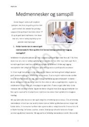 Medmennesker og samspill | Innlevering