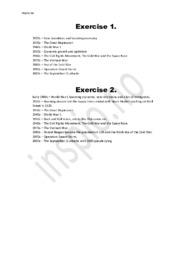 Short overview of historical events | Engelsk oppgave