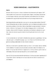 Norsk skrivedag | Haustmester