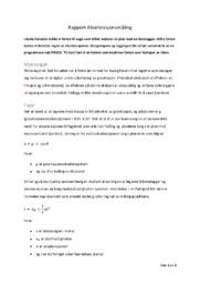 Rapport Akselerasjonsmåling | 6 i karakter