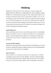 Mobbing | Helse- og sosialfag