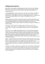 Refleksjonsnotat | Badminton | Idrettsfag