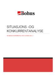 Situasjons -og konkurrentanalyse | 5 i karakter