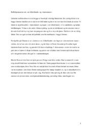 Refleksjonsnotat om | en folkefiende og haisommer