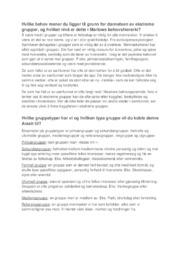 Gruppetyper | Psykologi | 5 i karakter