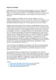 Biografie | Josef Mengele | Tysk oppgave