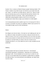 En reddende storm | Analyse