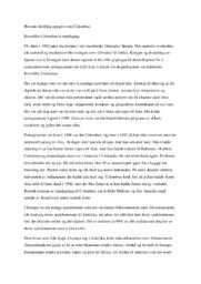 Historie skriftleg oppgåve om Colombus | 5 i karakter