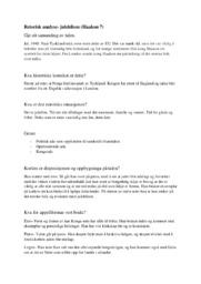 Retorisk analyse | Julehilsen (Haakon 7)