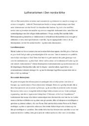 Lutheranismen i Den norske kirke