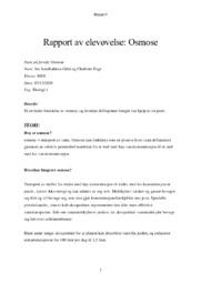 Rapport av elevøvelse | Osmose | 5 i karakter