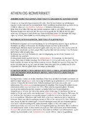 ATHEN OG ROMERRIKET | Historie | 5 i karakter