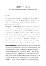 Oppgave til kap. 11 | Australia