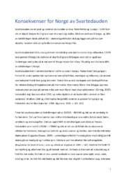 Konsekvenser for Norge av Svartedauden | 5 i karakter