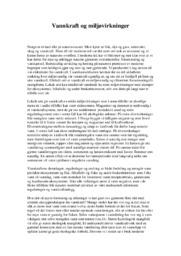 Vannkraft og miljøvirkninger | 5 i karakter