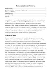 Romananalyse av Victoria – 5 i karakter