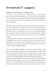Tolkning av Maria solheims |  TAINTED LOVE