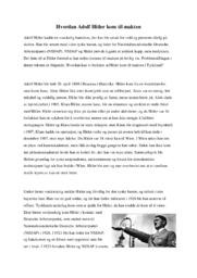 Hvordan Adolf Hitler kom til makten | Historie