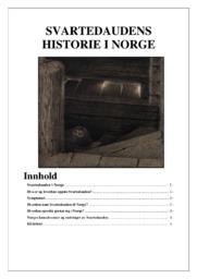 Svartedauden historie i Norge | 5 i karakter