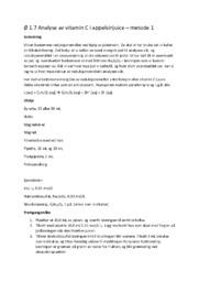 Ø 1.7 Analyse av vitamin C i appelsinjuice | metode 1