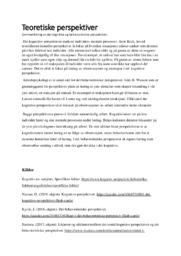 Kognitivismen og behaviorismen | Teoretiske perspektiver