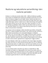 Realisme og naturalisme samanlikning i den realisme perioden