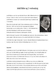 Adolf Hitler og 2 verdenskrig | 6 i karakter