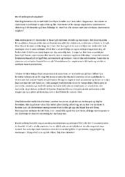 Nei til ambisjonsrik ungdom | Norsk oppgave